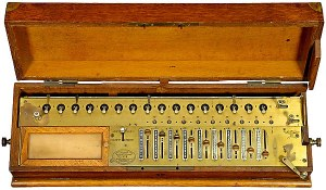 The Arithometer, a 19th Century mechanical calculator.