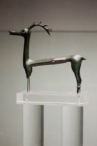 Bronze deer from Bulgaria, dating from 900-600 BCE.