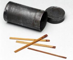 The first friction matches, made by John Walker.