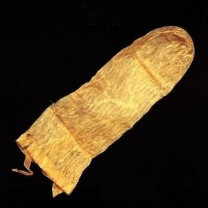 This condom, made from pig's intestines, is dated 1640.