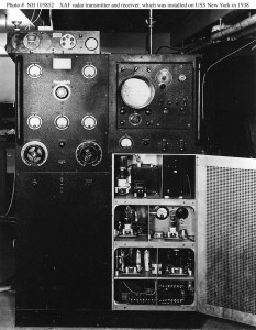 The U.S. Navy installed the experimental XAF radar on the USS New York in late 1938.