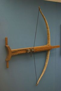 This is a reconstruction of a Greek crossbow, or gastraphetes, from