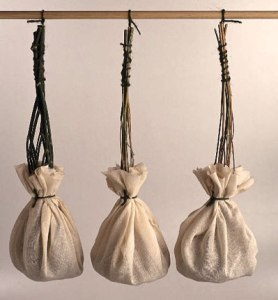 These gauze tea bags were made by Thomas Sullivan in the early 20th Century.