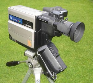 The Sony Betamovie BMC-100P, the first consumer camcorder, went on the market in 1983.