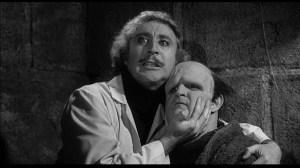 Gene Wilder (left) and Peter Boyle in Mel Brooks' Young Frankenstein (1974).