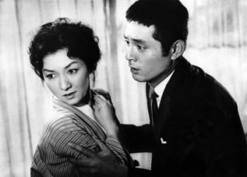 Hideko Takamine (left) and Tatsuya Nakadai in Mikio Naruse's When A Woman Ascends The Stairs (1958).