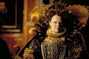 Judi Dench in her Oscar-winning supporting role as Queen Elizabeth in Shakespeare in Love (1998).