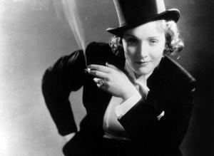 Marlene Dietrich in Morocco (1930).