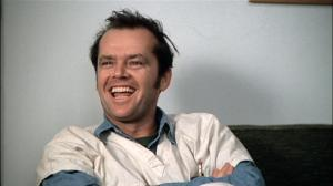 Jack Nicholson in One Flew Over the Cuckoo's Nest (1975).