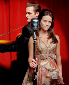 Reese Witherspoon and Joaquin Phoenix as June Carter and Johnny Cash in Walk the Line (2005).