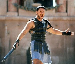 Russell Crowe in Gladiator (2001).
