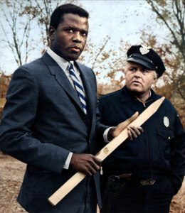 Sidney Poitier and Rod Steiger in In the Heat of the Night (1967).