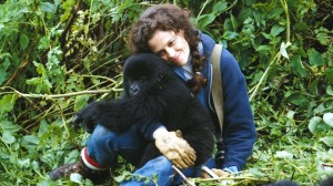 Sigourney Weaver as Dian Fossey in Gorillas in the Mist (1988).