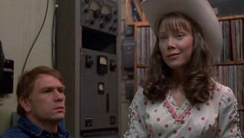 Sissy Spacek (as Loretta Lynn) and Tommy Lee Jones in Coal Miner's Daughter (1982).