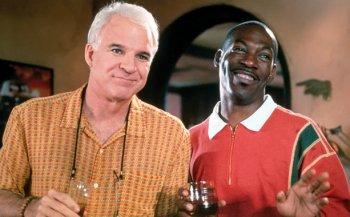 Steve Martin (left) and Eddie Murphy in Bowfinger (2000).