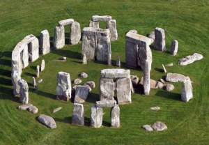 Stonehenge from the air.