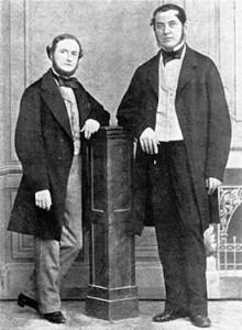 A photograph of Bunsen and Kirchhoff.