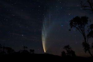 Comet McNaught in 2007.