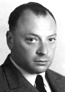 A 1945 photograph of Wolfgang Pauli (1900-1958).