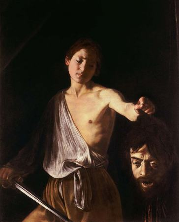 The head of Goliath in Caravaggio's David with the Head of Goliath (1607) is widely believed to be a self-portrait.