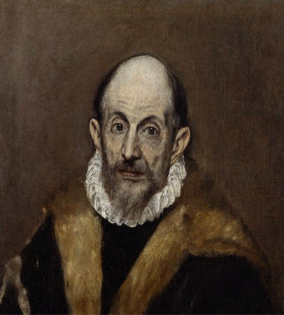 El Greco's Portrait of a Man, from 1595-1600, is presumed to be a self portrait.