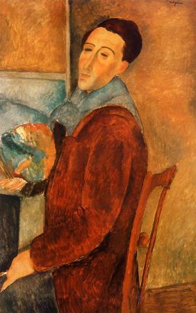 A 1919 Self-Portrait by Amedeo Modigliani.