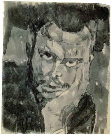 A 1909 Self-Portrait of Paul Klee.