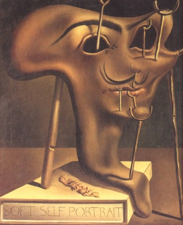 Soft Self-Portrait with Fried Bacon, by Salvador Dali (1941).