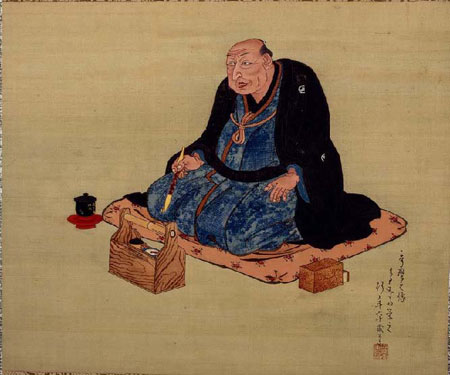 A possible portrait of Utamaro Kitigawa by Chobunsai Eishi.