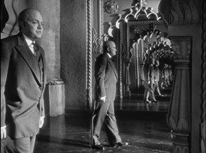 Orson Welles as Charles Foster Kane in Citizen Kane.
