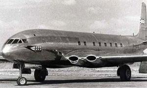 The de Havilland Comet 1. Unfortunately, the square windows led to crashes.
