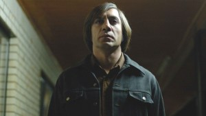 Javier Bardem in the Coen Brothers' No Country for Old Men.