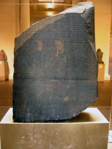 The Rosetta Stone has been in the collection of the British Museum in London since 1802.