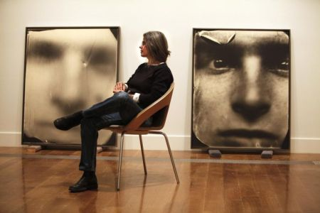 Sally Mann with two photos from her 'Flesh and the Spirit' series.
