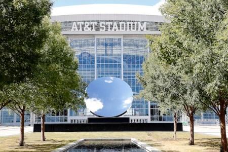 Anish Kapoor's Sky Mirror at AT&T Stadium in Arlington, Texas. Photo by James D. Smith/Dallas Cowboys.