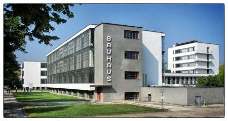 Bauhaus Dessau, by Walter Gropius, in Dessau, Germany.