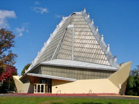 Beth Sholom Synagogue, by Frank Lloyd Wright, in Elkins Park, Pennsylvania.