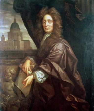 An anonymous undated portrait of Sir Christopher Wren.