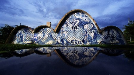 Church of St. Francis of Assisi in Pampulha, Brazil, designed by Oscar Niemeyer.