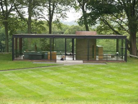 The Glass House by Philip Johnson, in New Canaan, Connecticut.