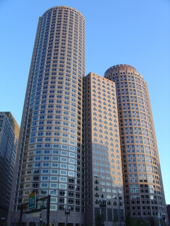 One and Two International Place, by Philip Johnson, in Boston.