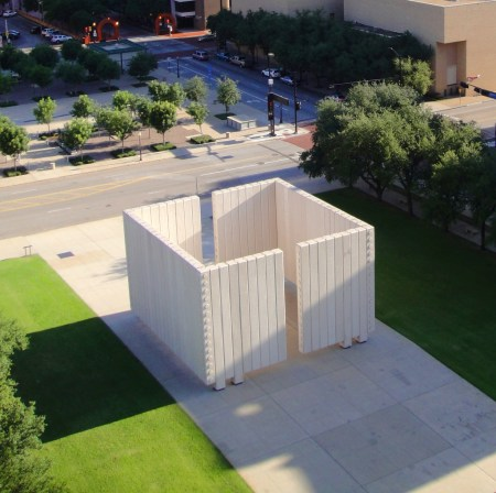 The John F. Kennedy Memorial in Dallas, Texas, which was designed by Philip Johnson.