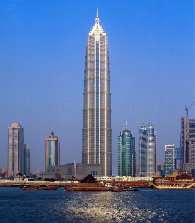 The Jin Mao Tower in Shanghai.