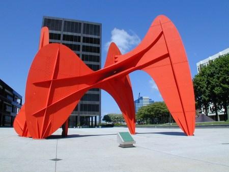 La Grande Vitesse, by Alexander Calder, in Grand Rapids, Michigan.