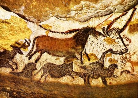 Cave paintings at Lascaux, France.