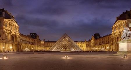 The Louvre Museum in Paris, France.