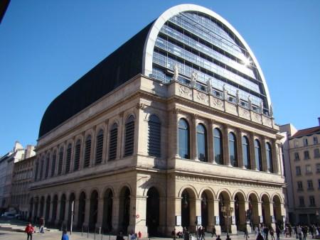 The Lyon Opera House, by Jean Nouvel, in Lyon, France.