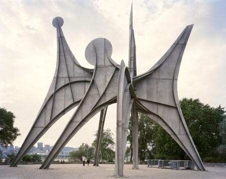L'Homme (Man) by Alexander Calder, in Montreal, Quebec, Canada.