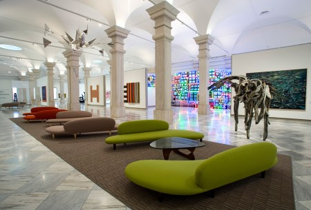 An interior view of the Smithsonian Museum of American Art in Washington, D.C.