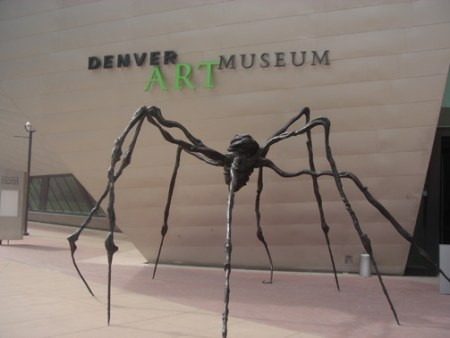 Spider by Louise Bourgeois outside the Denver Art Museum.